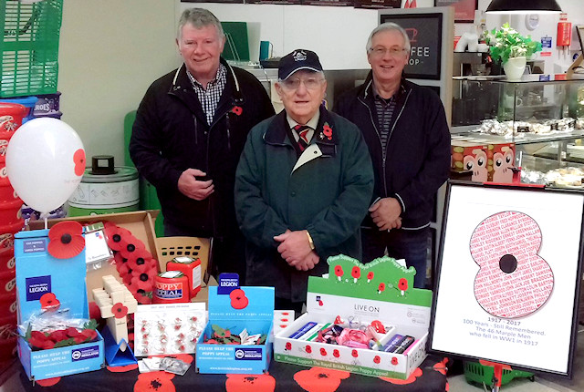 Poppy Appeal organisers Kevin, Ron and Mike