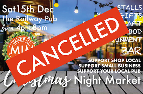 Christmas Night Market Cancelled