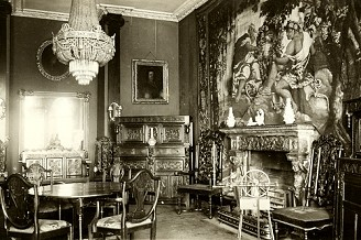 Gobelins Tapestries in Marple Hall Drawing Room