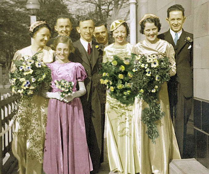 Wedding of Hugh Lane and Margaret Cochran in 1938