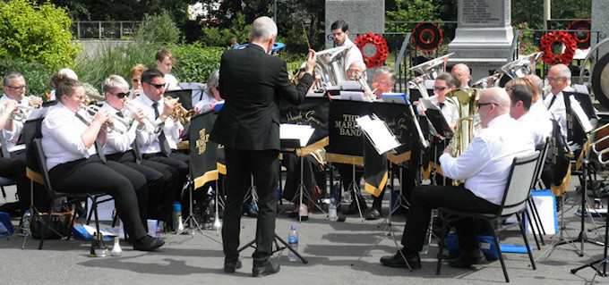 The Marple Band in Marple Memorial Park
