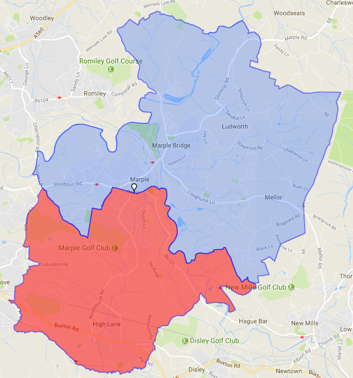 Marple Ward Map
