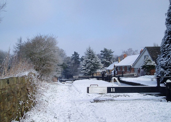 December - Snow at Lock 11 - P. Clarke