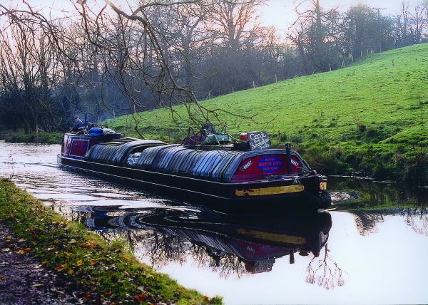 Narrowboat on Peak Forest Canal