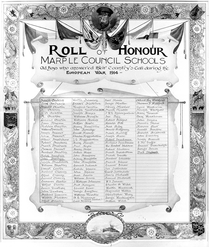 Roll of Honor Marple Council Schools