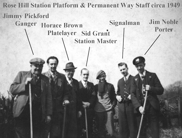 Rose Hill Station Staff c. 1949