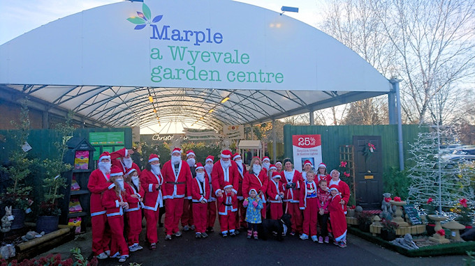 Santa Dashers at Marple Wyvale Garden Centre
